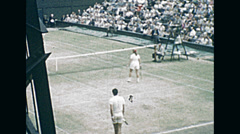 London 1964: mixed doubles at Wimbledon championships Stock Footage