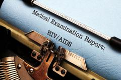 Hiv - aids report Stock Photos