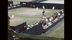 London 1964: Wimbledon courts during the championship Stock Footage