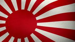 Japanese navy flag waving background loop Stock Footage