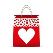 Shopping bag for Valentine's day Stock Illustration