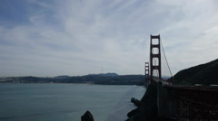 Golden Gate from Marin - stock footage