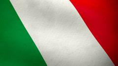 Italian flag waving background loop Stock Footage