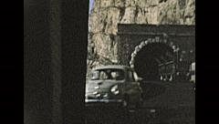 Italy 1957: driving in the streets of Liguria Stock Footage