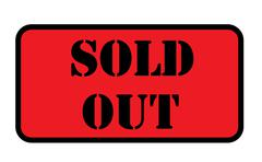 Sold out sign isolated Stock Illustration