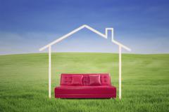 New house imagination Stock Illustration