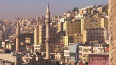 Sskyline view of Amman, Jordan. Stock Footage