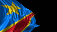 Stock Video Footage of Flag of Democratic Republic of Congo