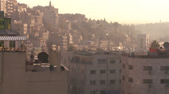 High angle morning skyline view of Amman, Jordan. Stock Footage