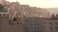 Stock Video Footage of High angle morning skyline view of Amman, Jordan.
