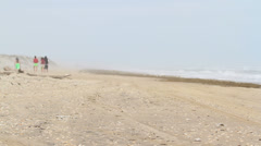 Beach in the winter of South Padre Island Stock Footage