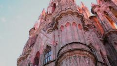 San Miguel de Allende´s church Stock Footage