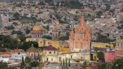 Aerial view of Mexican town Stock Footage