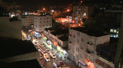 Night time lapse of downtown Amman, Jordan. Stock Footage