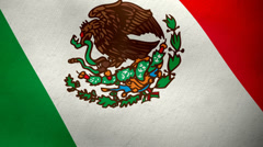 Mexican flag waving background loop Stock Footage