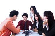 Stock Photo of business team agreement meeting - isolated
