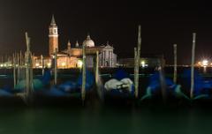 Venice, island san giorgio at night Stock Photos