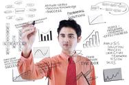Stock Illustration of businessman writing success concept on whiteboard