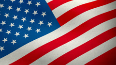 USA American flag waving background loop Stock Footage