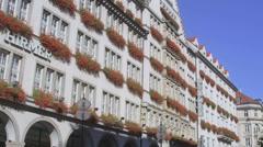 HD Decorated building in Neuhauser street, Munich Stock Footage