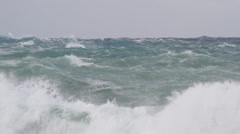 Storm rough sea breakers Stock Footage