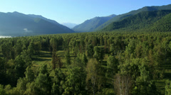 Flight over the Mountains. Altai. Siberia Stock Footage
