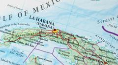 Havana - Cuba Map Zoom - stock footage