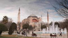 Time lapse Hagia Sofia Sultanahmet Stock Footage