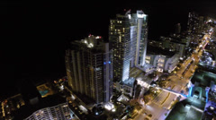 A1A Hollywood Beach night Stock Footage