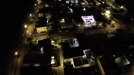 Stock Video Footage of Hollywood Beach night aerial