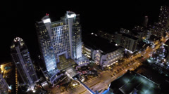 Hollywood night pan Stock Footage