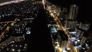 Stock Video Footage of A1A night aerial