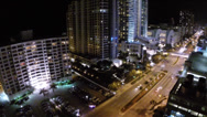 Stock Video Footage of A1A Hollywood Beach night