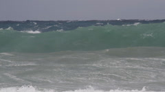 Storm breakers color waves sea Stock Footage
