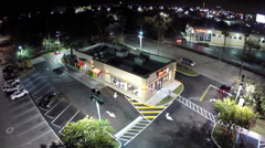 Wendys at night Stock Footage