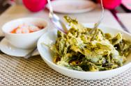 Stock Photo of green tea glory salad