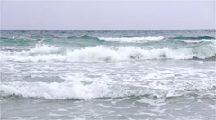 Sea horizon with rumbling waves Stock Footage