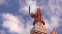 Clouds drift behind St. Maron of the Maronite Catholic Church of Lebanon. Stock Footage