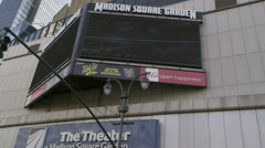 Madison Square Garden in NYC Stock Footage