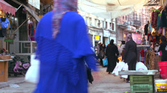 The Hezbollah city of Sidon in Southern Lebanon. Stock Footage