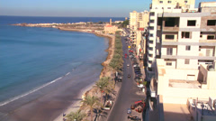 A view along the main corniche at Tyre, Lebanon. Stock Footage
