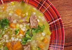 Scotch broth soup Stock Photos