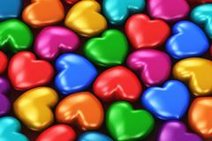 Color hearts - stock illustration