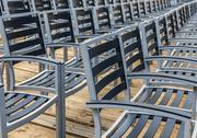Stock Photo of Row of Empty Chairs