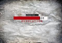 Loading revolution draw on a grunge background Stock Photos