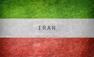 Stock Illustration of Vintage flag of Iran