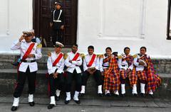 Stock Photo of Musicians of the Nepalese Military Orchestra in Kathmandu, Nepal