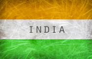 Stock Illustration of Flag of India. Grunge postcard