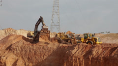 Construction heavy machinery 009.mp4 Stock Footage