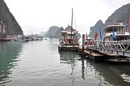 Stock Photo of tourist junks in halong bay, vietnam